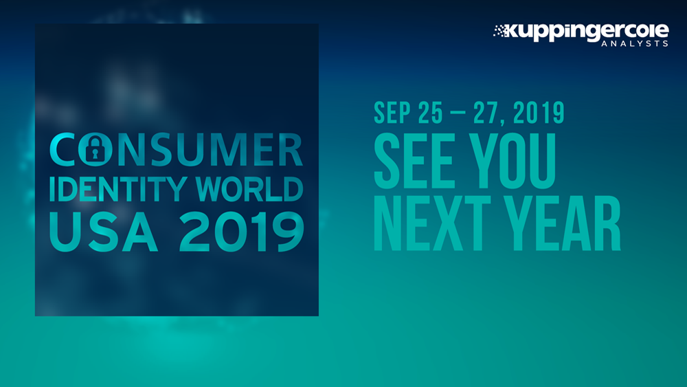 Consumer Identity World Usa 2018 Kuppingercole Events