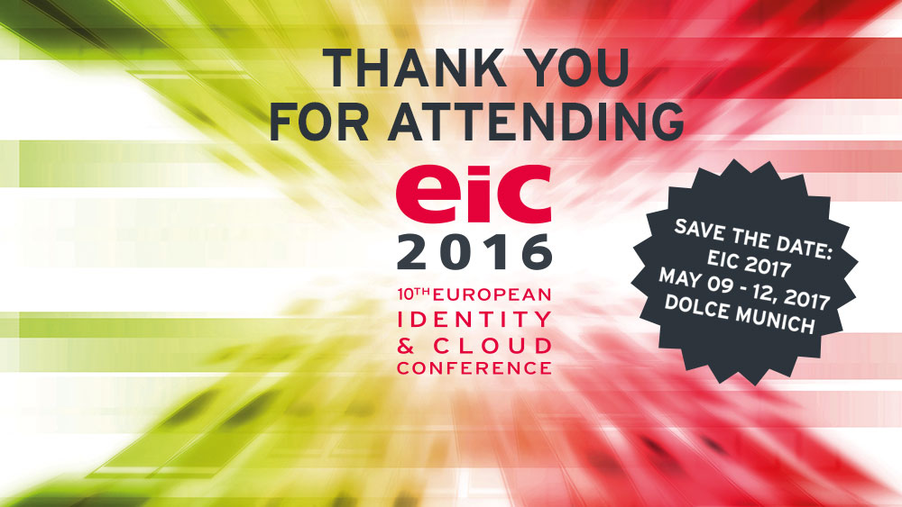 Thank you for attending EIC 2016, thank you for contributing!