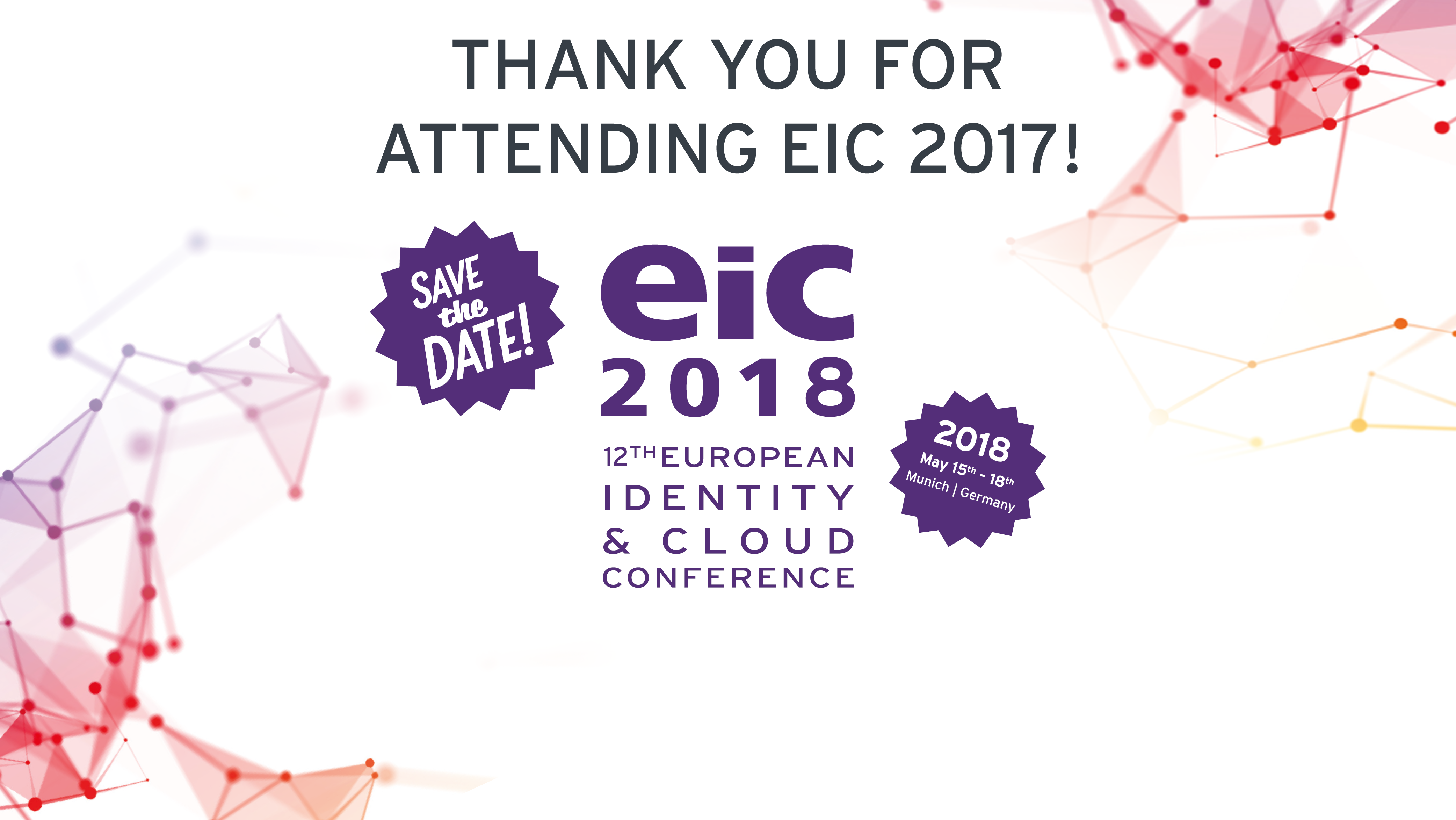 Thank you for attending EIC 2017, thank you for contributing!