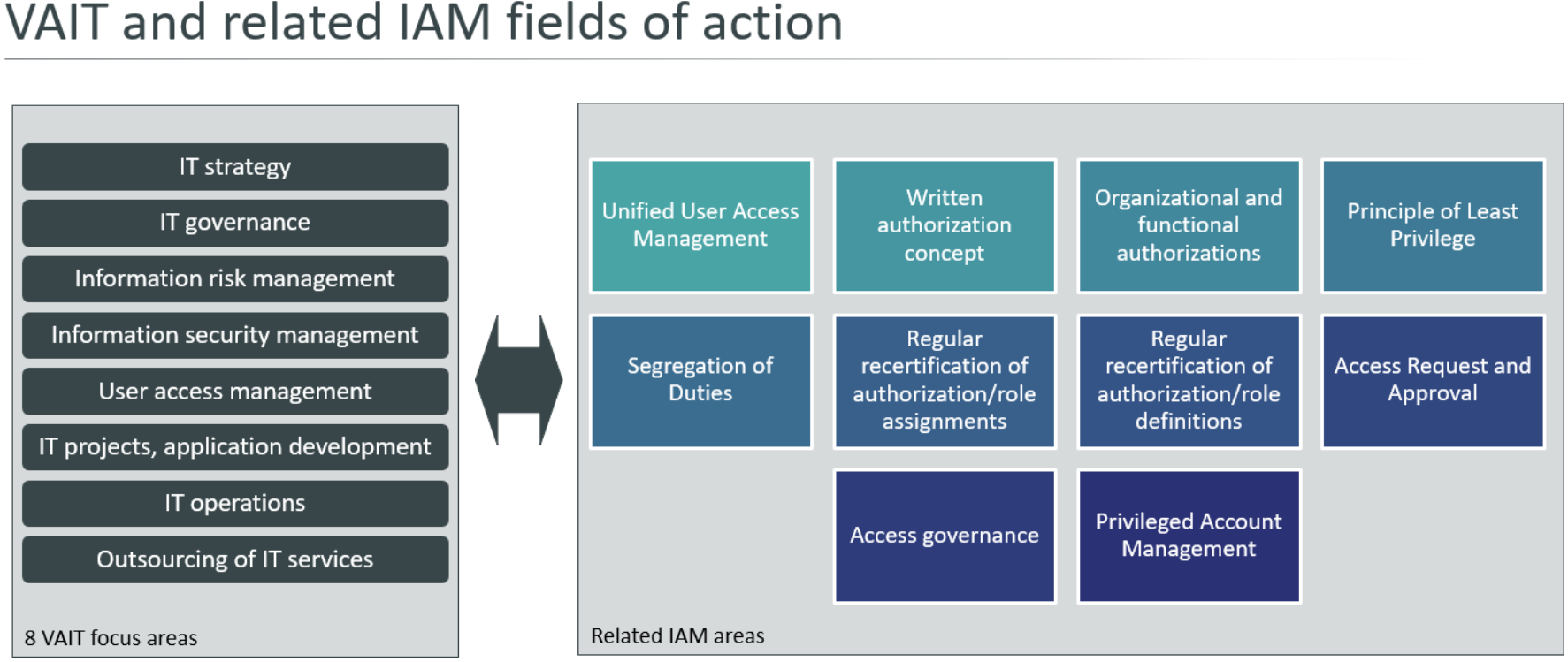 Figure 1: VAIT and related IAM/IAG fields of action