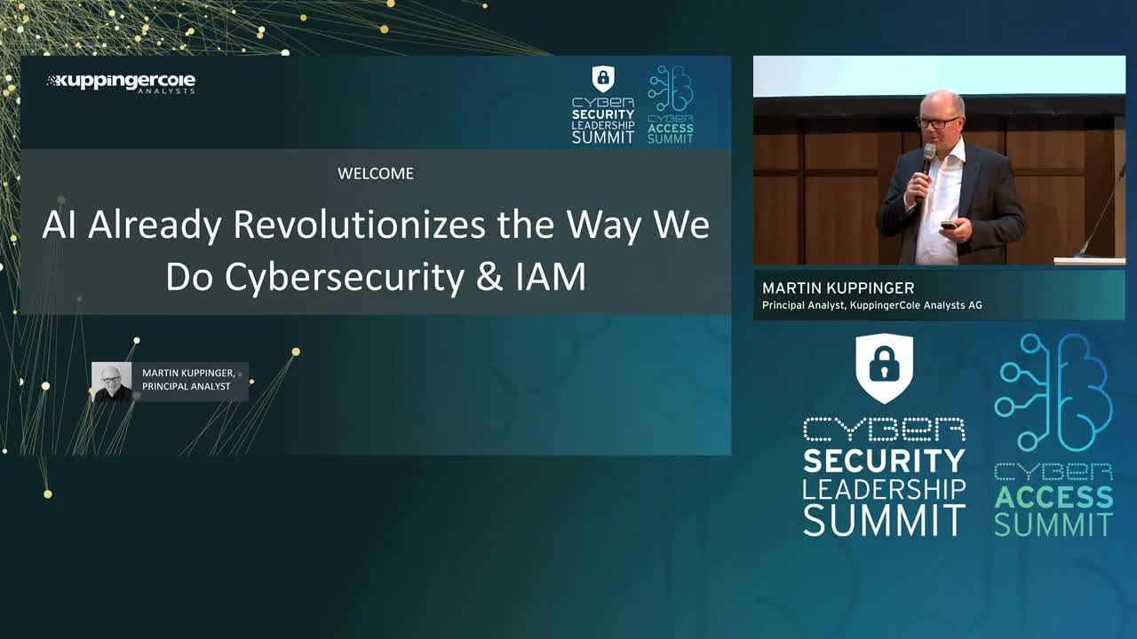 Martin Kuppinger - AI Already Revolutionizes the Way We Do Cybersecurity & IAM
