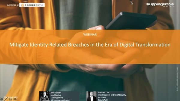 Mitigate Identity-Related Breaches in the Era of Digital Transformation