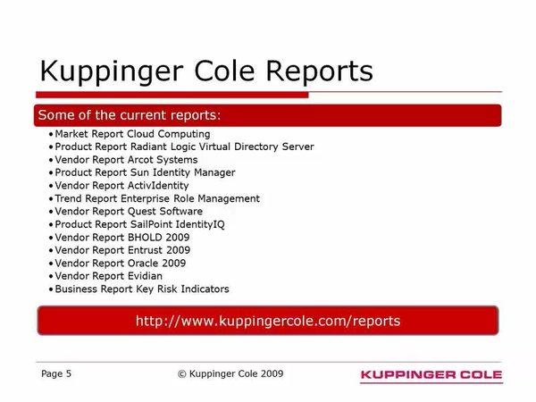 News Archive - KuppingerCole